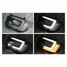 Toyota Hiace 14- Black Projector Head Lamp with Bar