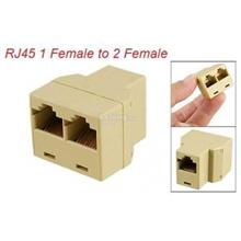 RJ45 Splitter 1 Female to 2 Female LAN RJ45 Connector Adapter (F266)
