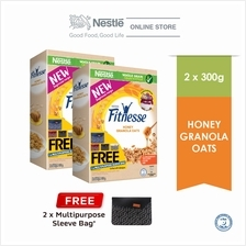 Nestle FITNESSE Granola Honey 300g Free Sleeve Bag Bundle of 2