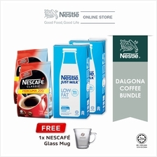 Nescafe Classic Dalgona Bundle Option 2, Free 1 Nescafe Mug