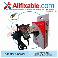 Acer 19v 2.15a S221HQL S230HL V5-121 Iconia Tab W500 Adapter Charger