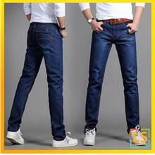 Slim Fit Straight Cut Washed Jeans