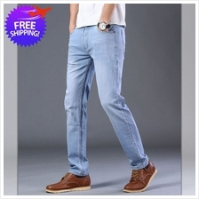 Men Classic Wash Jeans Straight Cut Slim Fit For Smart and Casual Wear