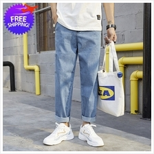 Men Casual Washed Jeans Loose Fit Jeans For Leisure Wear