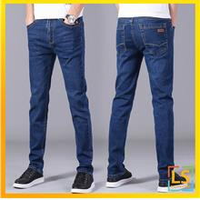 Men Classic Jeans Straight Cut Slim Fit Summer Jeans For Casual Wear