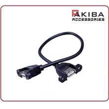USB 2.0 A Female to AF Panel Mount Cable