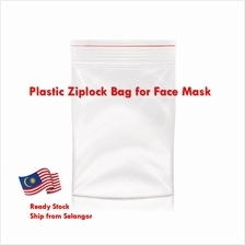 Face Mask Storage Plastic Ziplock Bag Poly Clear Bags