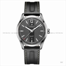 HAMILTON H43515735 Broadway Automatic Day Date Leather Strap Black