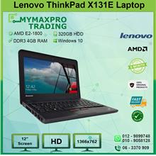 Lenovo ThinkPad X131E AMD E2-1800 4GB RAM 320GB HDD Win10 Laptop
