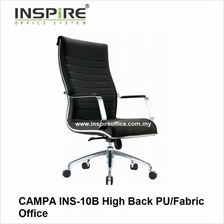 CAMPA INS-10B High Back PU/Fabric Office Chair