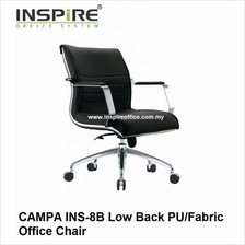 CAMPA INS-8B Low Back PU/Fabric Office Chair