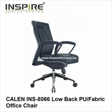 CALEN INS-8066 Low Back PU/Fabric Office Chair