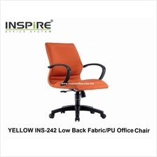 YELLOW INS-242 Low Back Fabric/PU Office Chair
