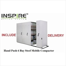 Hand Push 6 Bay Steel Mobile Compactor
