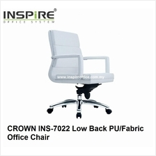 CROWN INS-7022 Low Back PU/Fabric Office Chair
