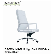 CROWN INS-7011 High Back PU/Fabric Office Chair