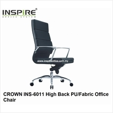 CROWN INS-6011 High Back PU/Fabric Office Chair
