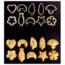 110 Traditional Assorted Fluted Cookie Cutter Set 10 pcs