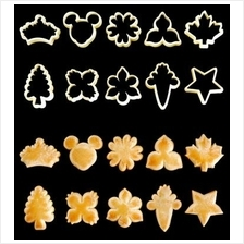 209 Traditional Assorted fluted cookie fondant cutter set 10 pcs
