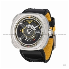 SEVENFRIDAY W1/01 BLADE W-Series Automatic Leather Strap Black