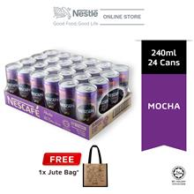 Nescafe Mocha Can 24 x 240ml Free Jute Bag