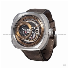 SEVENFRIDAY Q2/02 Q-Series Automatic Leather Strap Brown