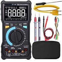 Digital Multimeter True-RMS 3-Line Dispaly 9999 Counts Button Design Auto-Rang