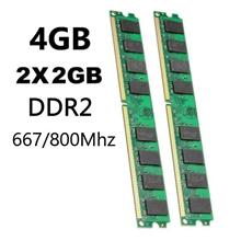 4GB (2x2GB) DDR PC2 667/800Mhz 240PIN Desktop Memory RAM For PC