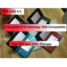 Black/Red Nintendo 3DS US Firmware 4.5 9.2 Gateway 3DS Compatible