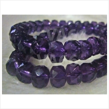 DIY Amethyst Purple Facetted Wheel Beads 5mm x 8mm Gemstone Disc Donut