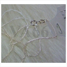 "DIY 1pc 16"" 925 Sterling Silver Hallmark Link Chain for Pendant AG020"