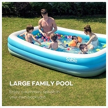 Sable Inflatable Pool, Blow Up Family Pool for Kids, Toddlers & Adult, 118 &q