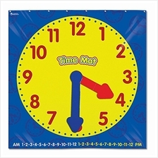 Learning Resources Time Activity Mat, Homeschool, Learning Clock, Classroom Ac