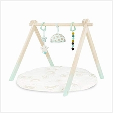 B. toys – Wooden Baby Play Gym – Activity Mat – Starry Sky – 3 Hanging