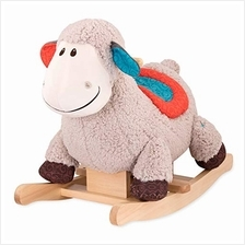 B. Toys – Loopsy Wooden Rocking Sheep – Rodeo Rocker – Plush Ride On She