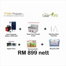 SOLAR DEEP FRYER GAS 6L DOUBLE PACKAGE