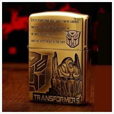 Antique Brass Transformers Auto Bot Optimus Prime Zippo Lighter