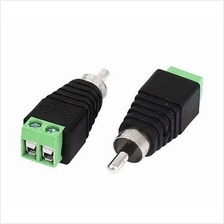 RCA Male Plug to 2pin Connect Screw Terminal for CCTV