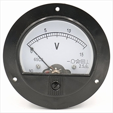 Baomain 65C5 Analogue Panel Meter Volt Voltage Gauge Analog Voltmeter DC 0-15