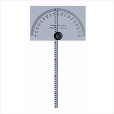 "Mitutoyo 968-203 Protractor, Square Head, W/ 6 "" Rule"