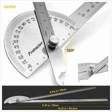 Protractor Angle Protractor Two Arm 11.8in /30cm,9.84in / 25cm,10in Woodworkin