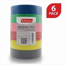 XFasten Multi Colored Painters Masking Tape Kids Craft Set, 1-Inch x 30 Yards,