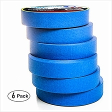 "Blue Painters Tape 1 Inch Professional Grade (6 Rolls, .94 "", 60 Yrd/roll"