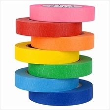 7 Rolls Colored Masking Tape, Colorful Rainbow Painters Tape, Different Colors