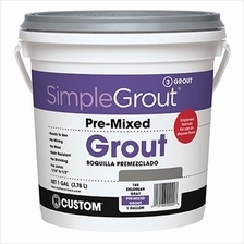 Custom PMG3811 1-Gallon Simple Premium Grout, Bright White