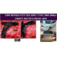 TRW HONDA CITY SEL IDSI/VTEC JAZZ SAA 2003-2007y FRONT RIGHT LOWER ARM