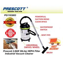 Prescott 2.0kW 30Litre Wet, Dry & Blow Industrial Vacuum Cleaner