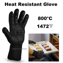 1 unit 1pc 800°C 1472℉ Heat Resistant BBQ Fireproof Black Glove 2439.1