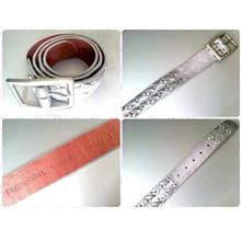 **Incendeo** - British India Silver Genuine Leather Belt