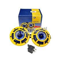 Hella Sharptone Super Tone Yellow Panther Dual Horn Set with Relay